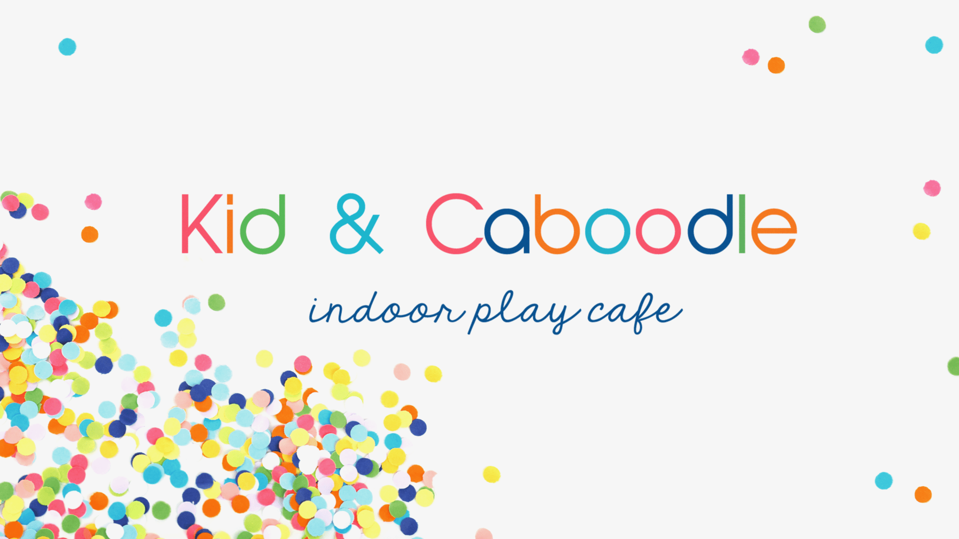 Kid and Caboodle play indoor play cafe branding