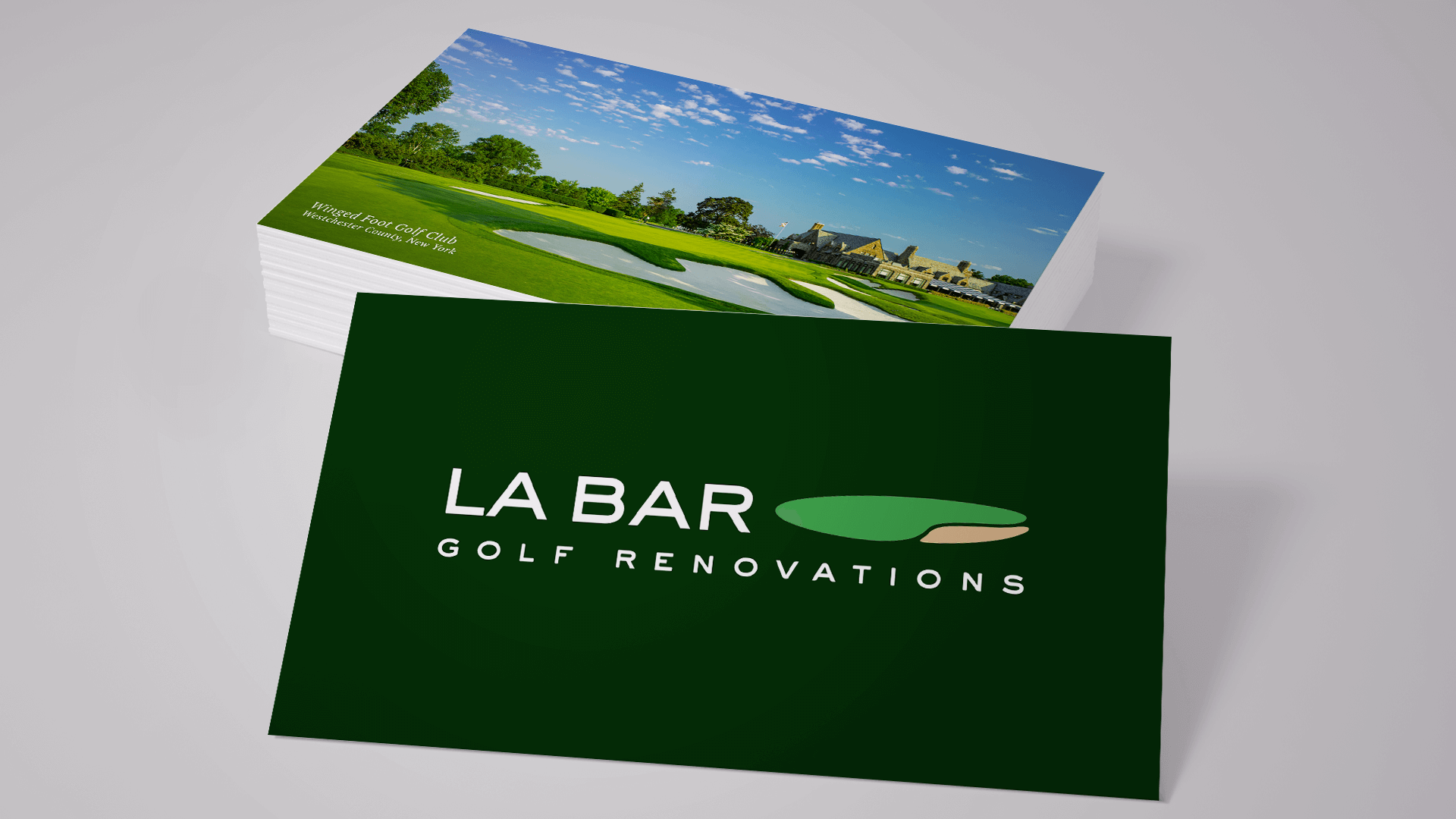 Labar Golf Renovations business cards branding