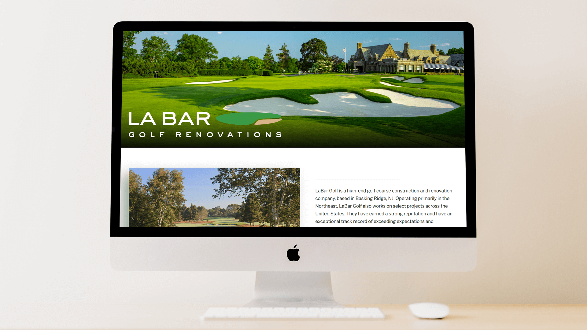 LaBar Gold Homepage Responsive Website Design Winged Foot Golf Club