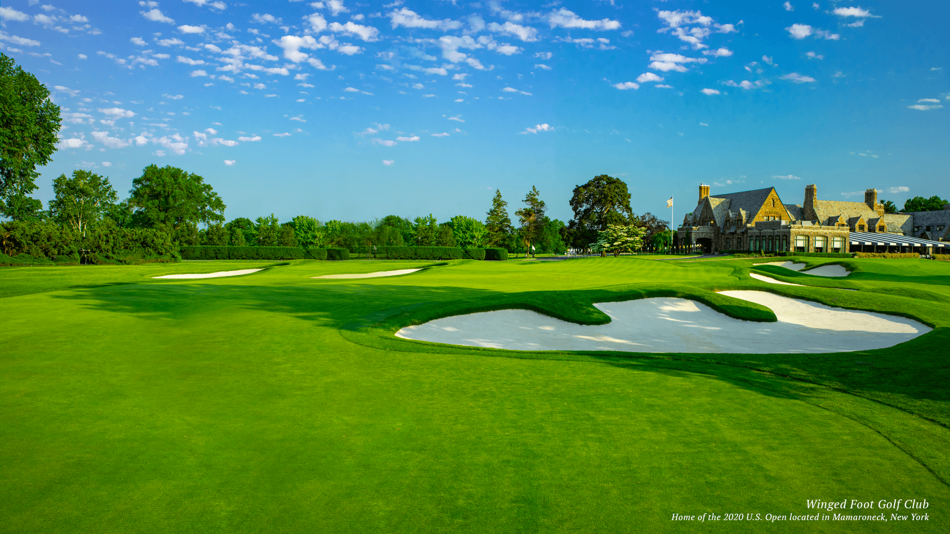 Winged Foot Golf Course home of the US Open in 2020 New york