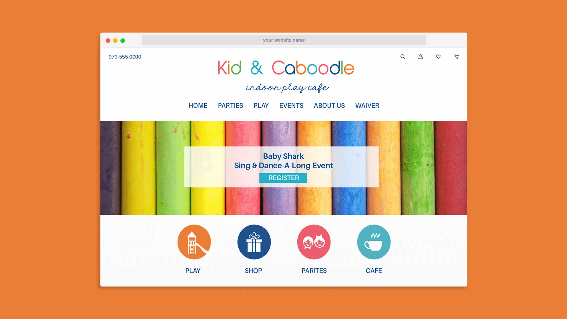 Kid and Caboodle Indoor Play Cafe Big Commerce Website