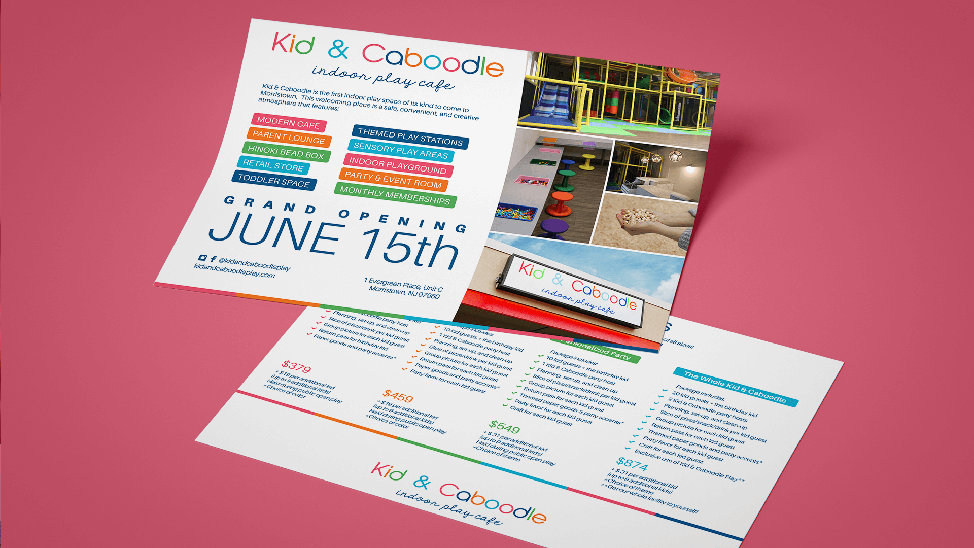 Postcard Print Design Kid and Caboodle Morristown NJ