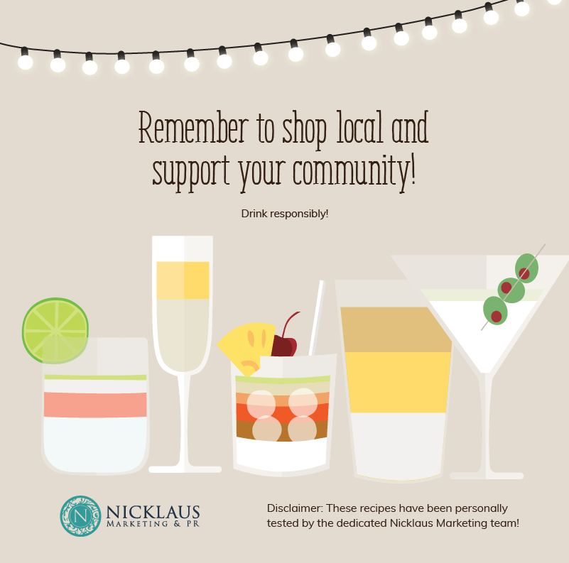 quarantine cocktail support your community and shop local