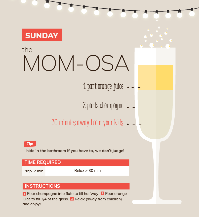sunday mom-osa mimosa quarantine cocktail