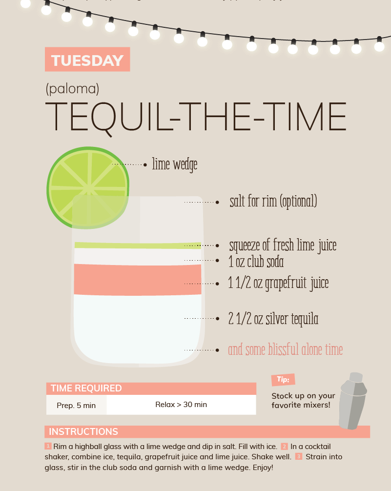 Tuesday tequilla tequil-the-time quarantine cocktail