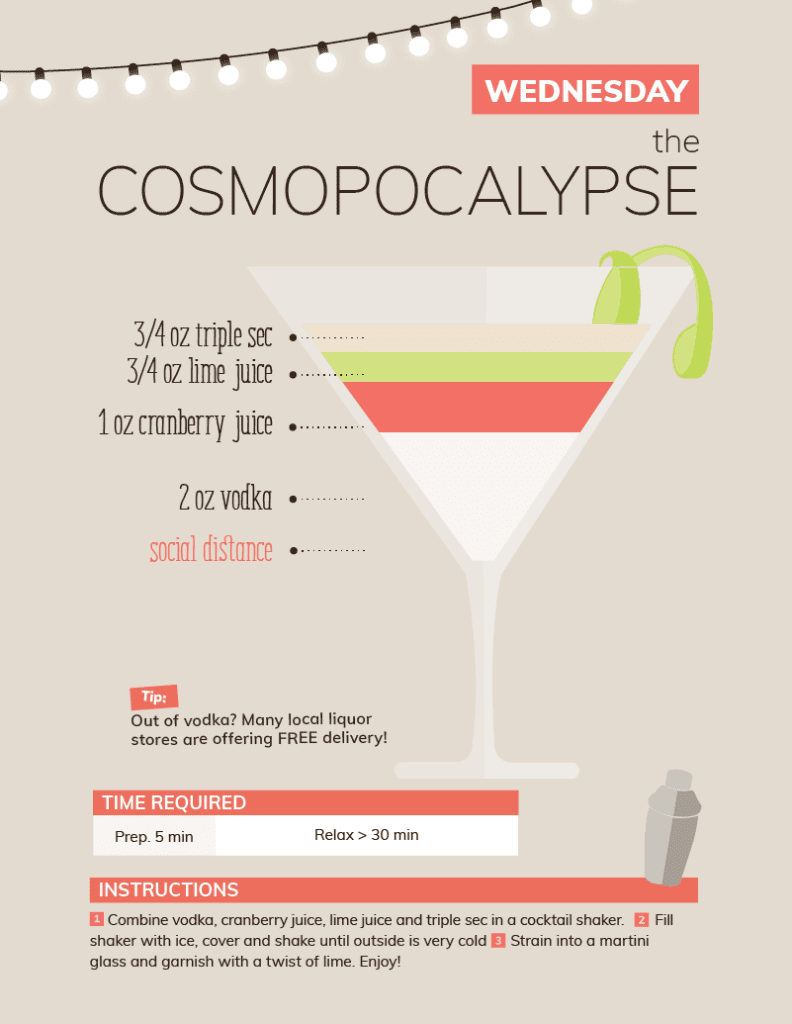 Cosmopocalypse quarantine cocktail