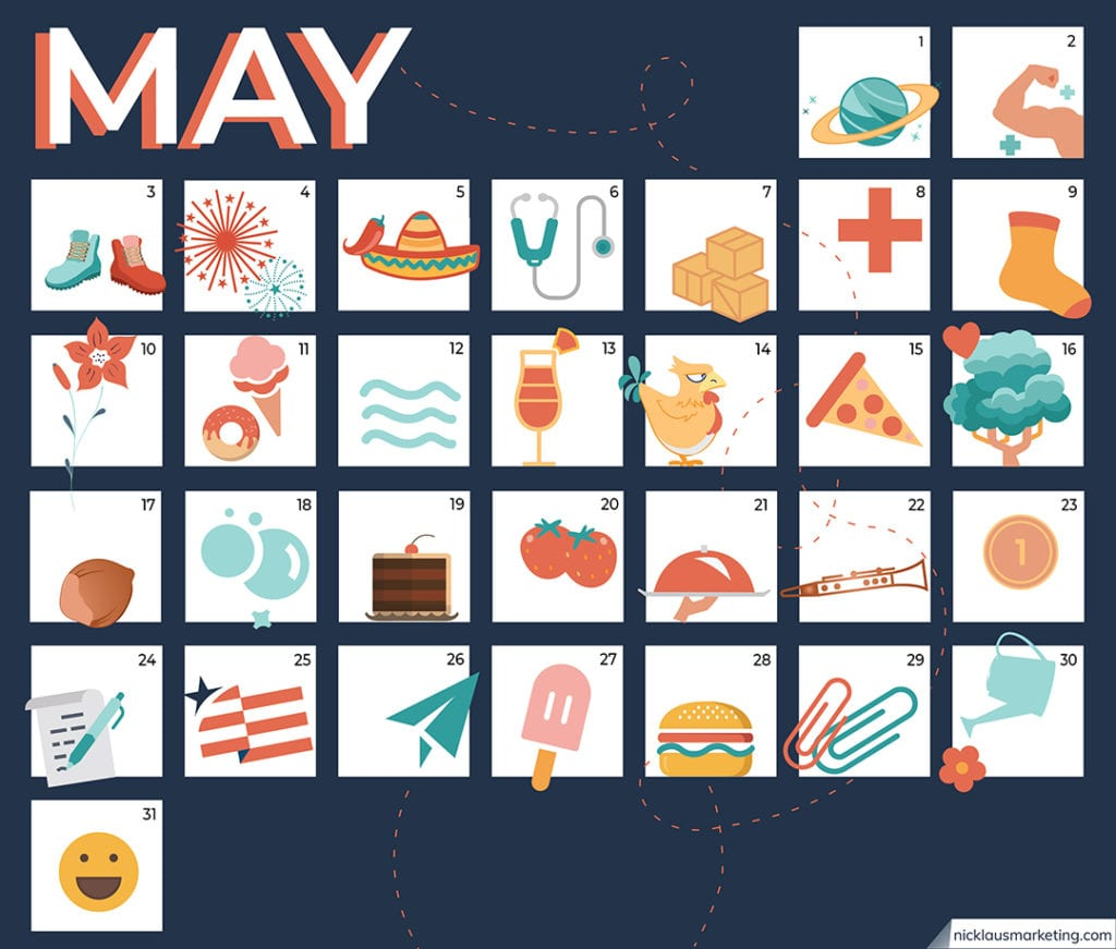 Calendar View 31 Holidays to Celebrate Every Day in May During Quarantine