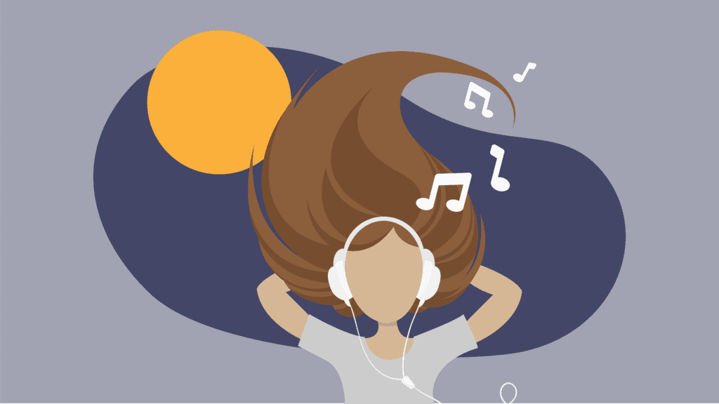 4 playlists to spice up your summer adventures girl listening to music