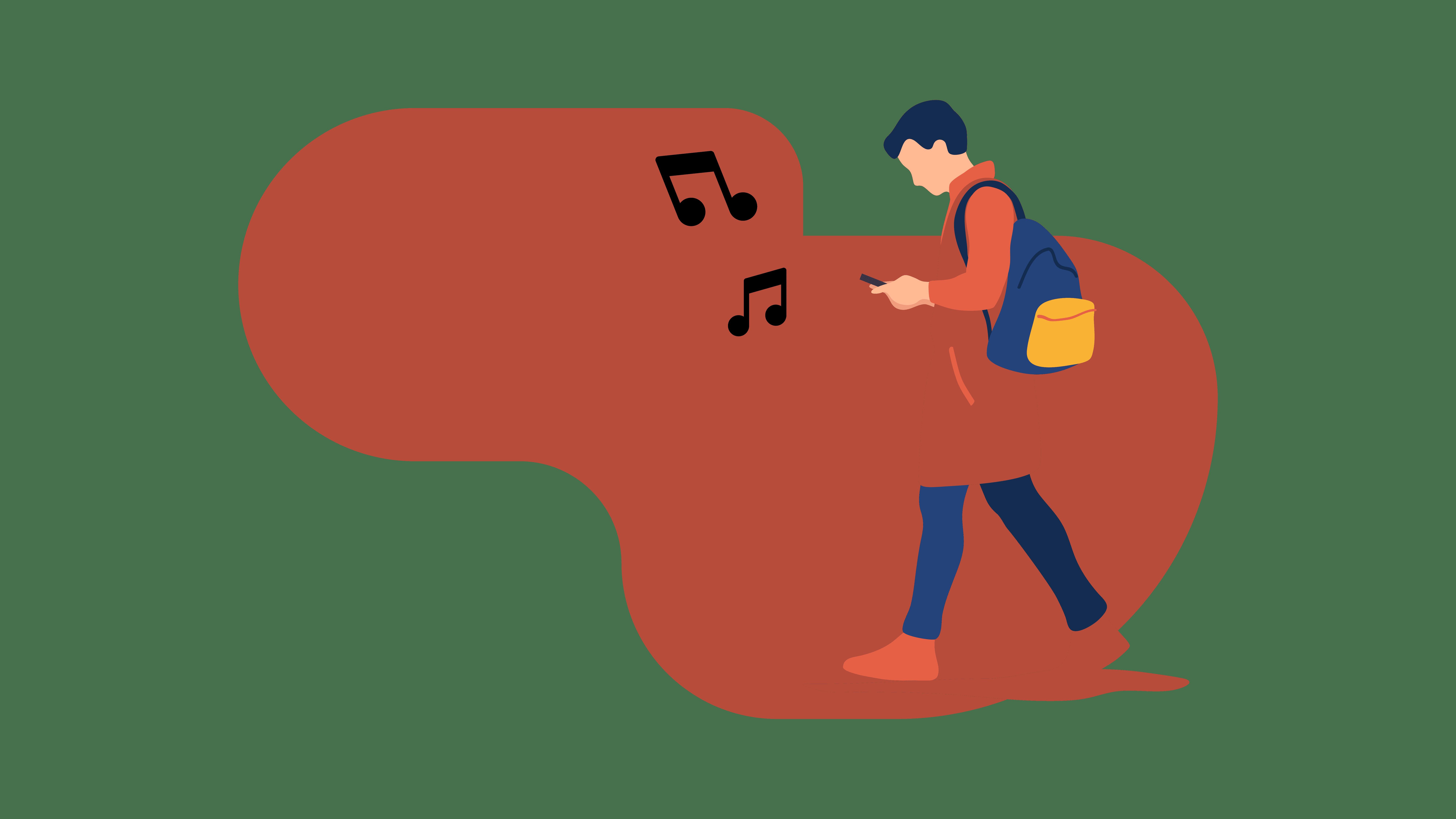 4 Fall Playlists to keep you warm Man walking